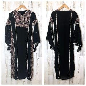 Renaissance Fairytale Sheer Embroidered Robe Dress